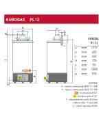 EUROGAS PL 12 - pojemnościowy podgrzewacz gazowy