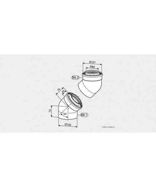 Azb 899 Kolano Powietrzno-Spalinowe 45 (×2)