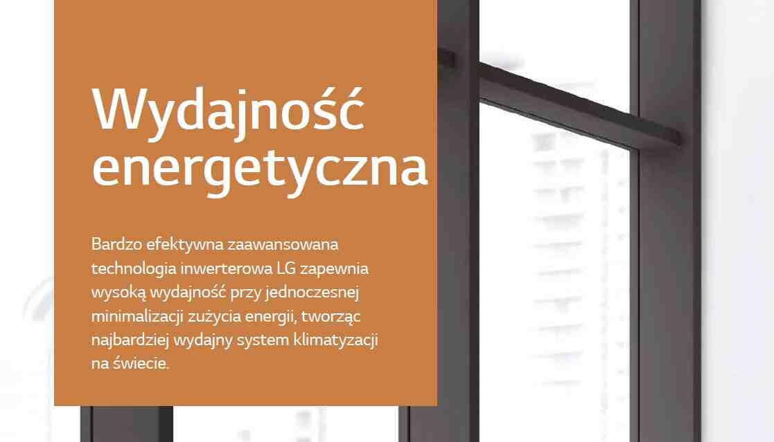 Bardzo efektywna zaawansowana technologia inwerterowa LG zapewnia wysoką wydajność przy jednoczesnej minimalizacji zużycia energii, tworząc najbardziej wydajny system klimatyzacji na świecie.