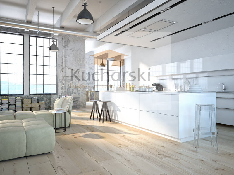 Salon otwarty na kuchnię