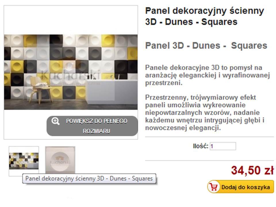 Panele dekoracyjne – squares