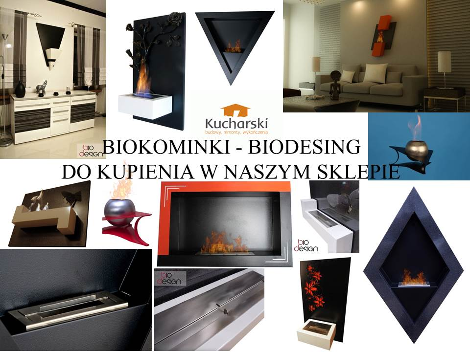 Mix zdjec kominki - biodesing - sklep