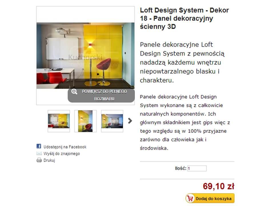 Panele dekoracyjne – Loft