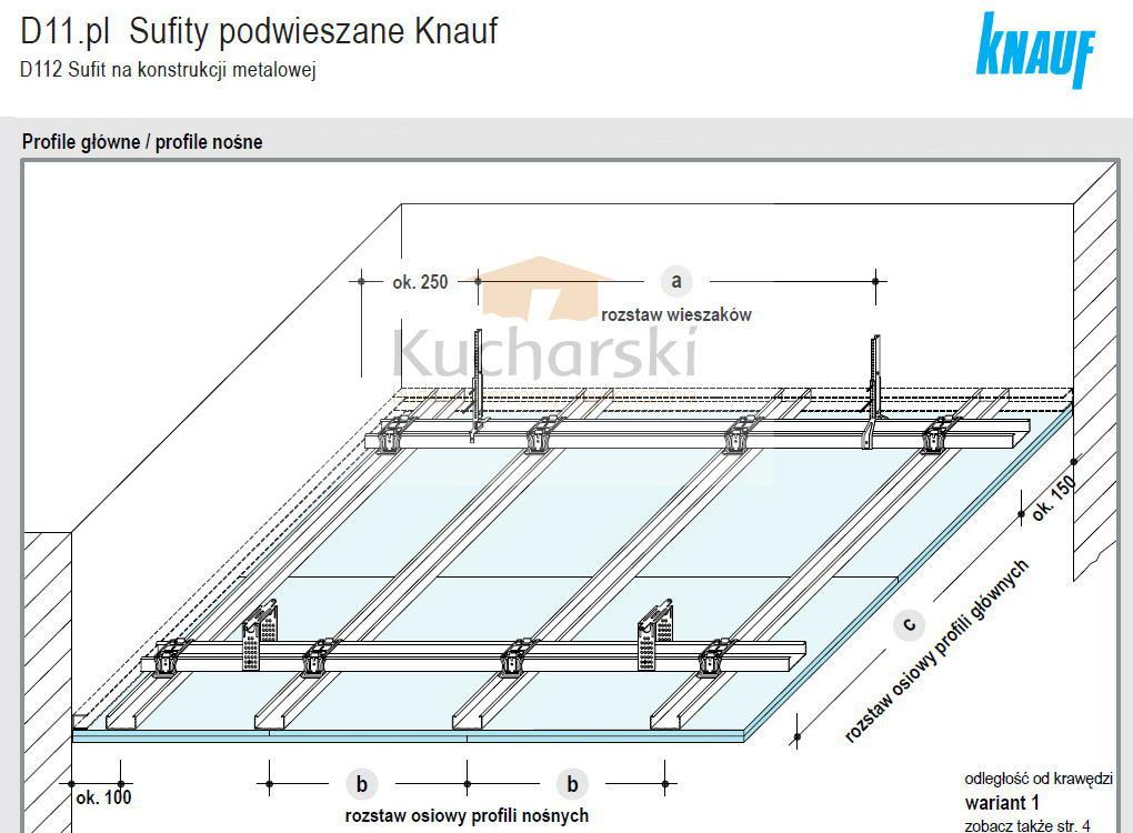 Sufit podwieszany - Kanuf - 01