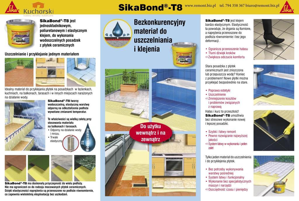 SIKA SIKABOND T8 Wodoszczelny klej elastyczny