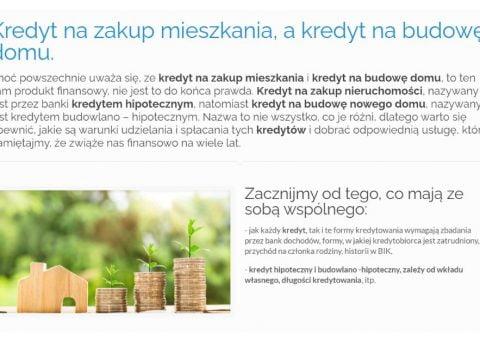 Kredyt na zakup mieszkania, a kredyt na budowę domu