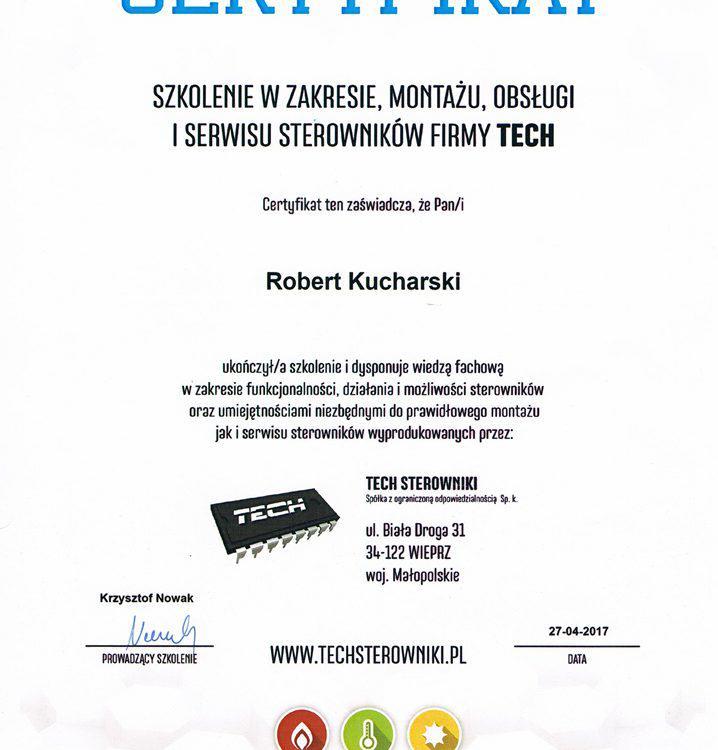 Certyfikat firmy TECH