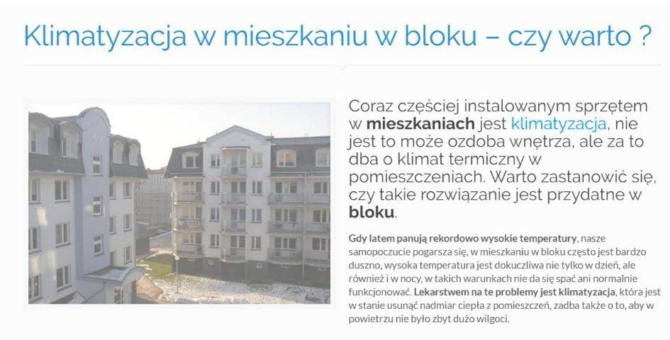 Klimatyzacja w mieszkaniu w bloku – czy warto