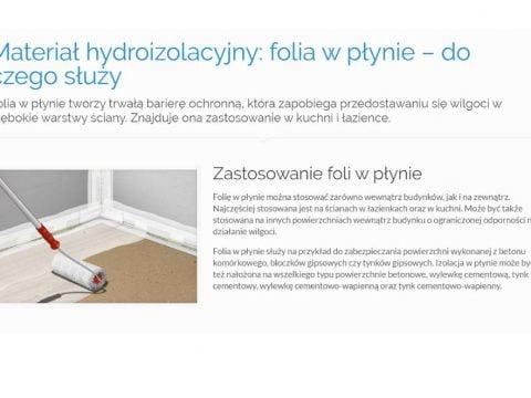 Materiał hydroizolacyjny folia w płynie – do czego służy