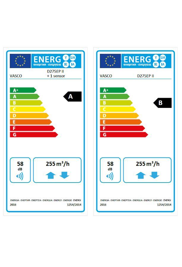 Vasco D275 EP II - etykiety energetyczne - 01