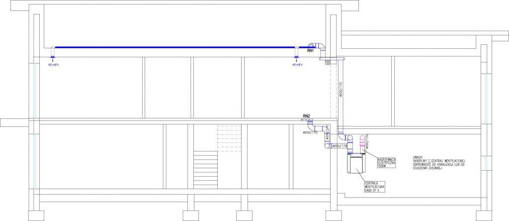 Projekt wentylacji mechanicznej z rekuperacją 5