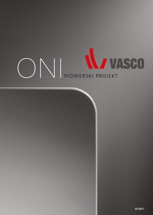 Vasco ONI cennik katalog - 2017