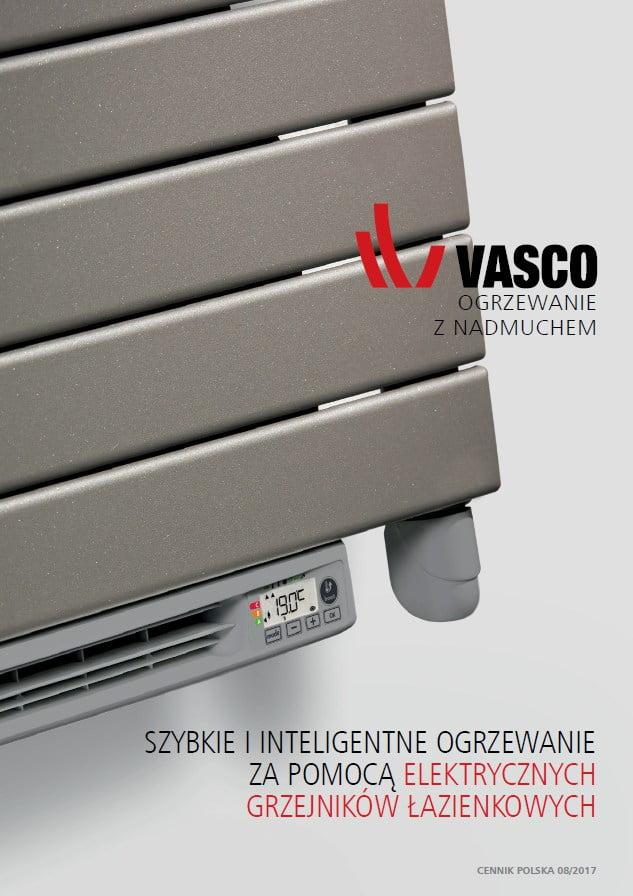 Vasco cennik – elektryczne grzejniki łazienkowe ( 2017 )
