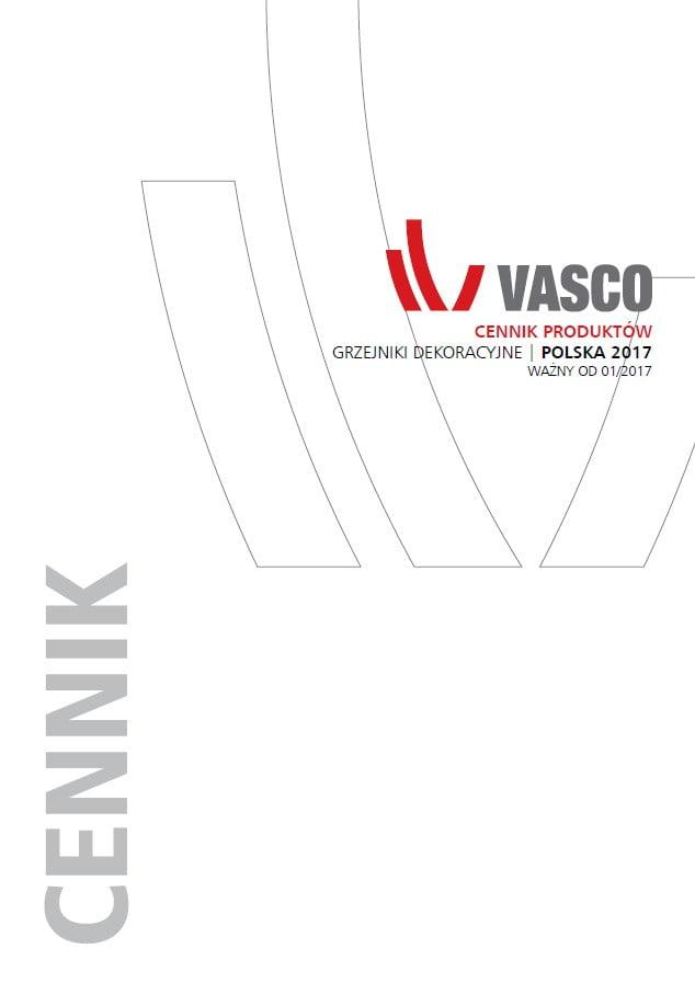 Vasco cennik produktów - grzejniki dekoracyjne ( 2017 )