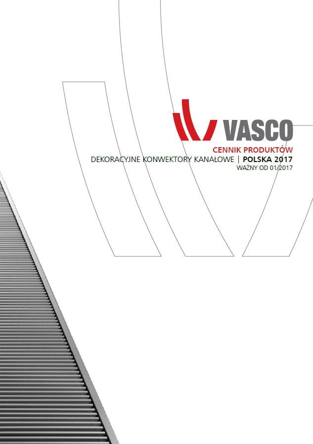 Vasco cennik produktów - konwektory kanałowe ( 2017 )