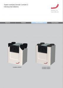 Zehnder ComfoAir Q - instrukcja dla instalatora