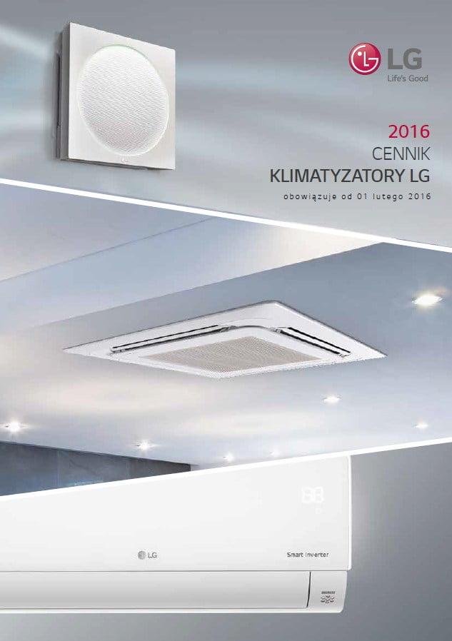 2016 - Cennik LG - klimatyzacja, rekuperacja, pompy ciepła
