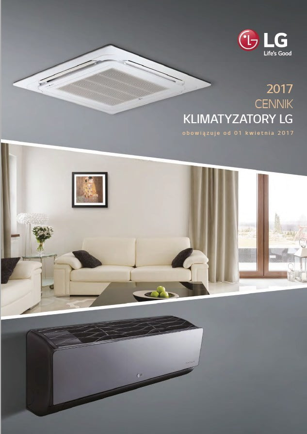 2017 - Cennik LG - klimatyzacja, rekuperacja, pompy ciepła