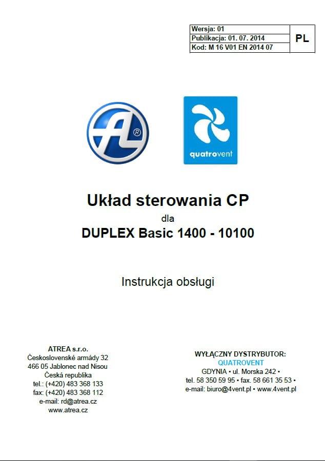 Duplex - Układ sterowania CP do rekuperatorów