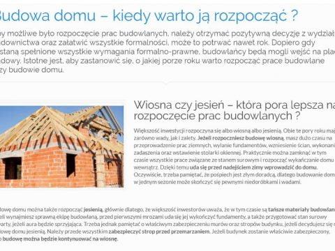 Budowa domu – kiedy warto ją rozpocząć