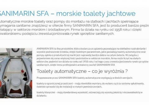 SANIMARIN SFA – morskie toalety jachtowe - NK
