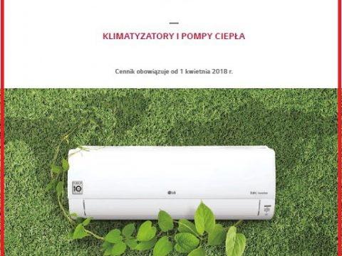 LG Cennik 2018 Klimatyzacja - ( klimatyzatory pokojowe, multi split, komercyjne ), Pompy ciepła Therma V