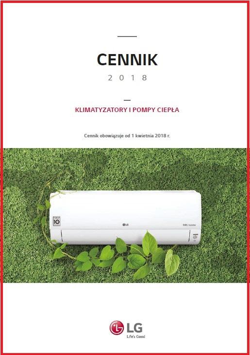 2018 LG Cennik Klimatyzacja - ( klimatyzatory pokojowe, multi split, komercyjne ), Pompy ciepła Therma V