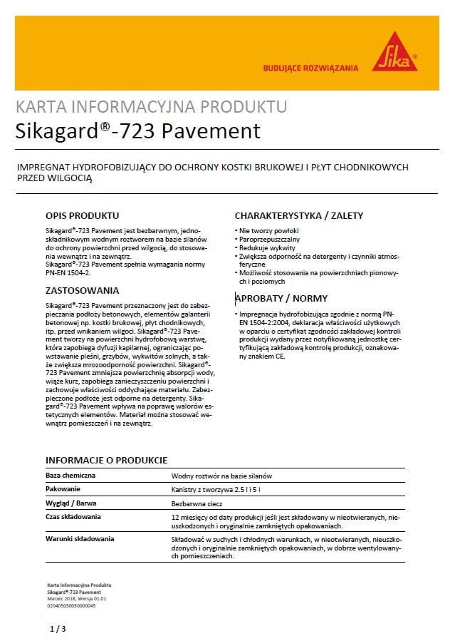 Sikagard 723 Pavement Karta techniczna