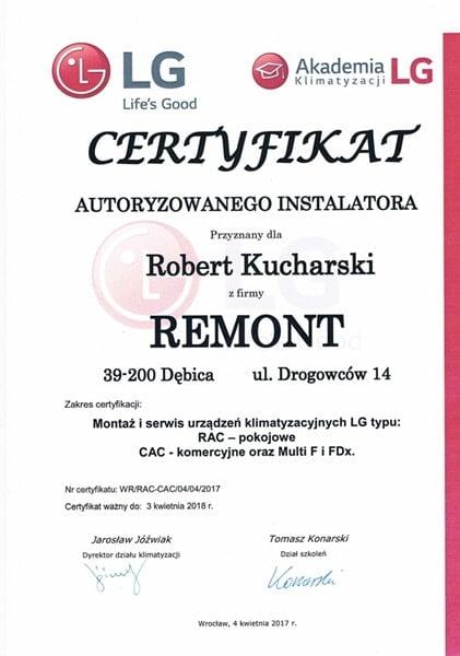 Certyfikat Autoryzowanego Instalatora LG - m-min