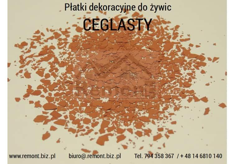Płatki dekoracyjne do żywic CEGLASTY