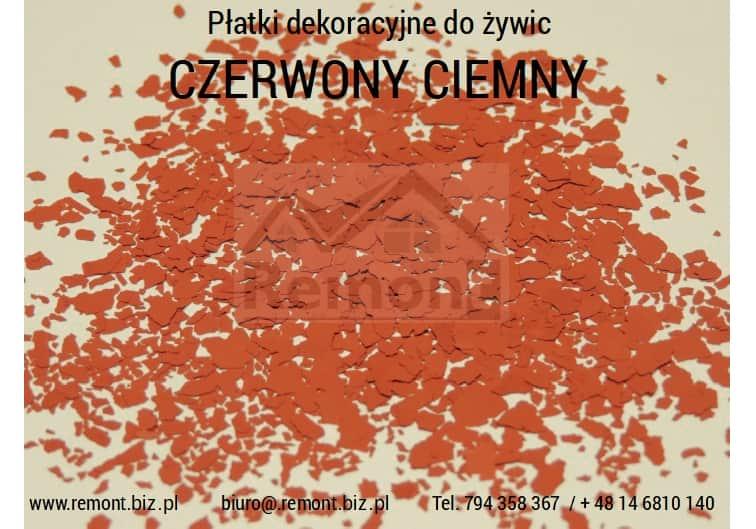 Płatki dekoracyjne do żywic CZERWONY CIEMNY