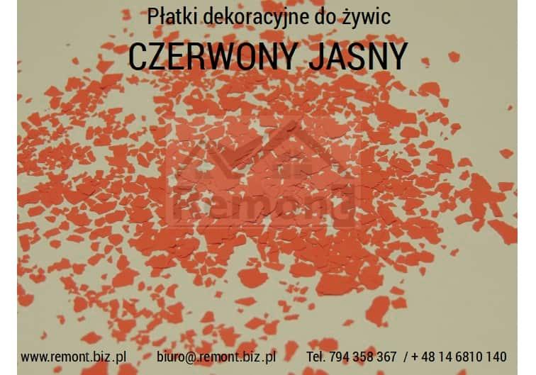 Płatki dekoracyjne do żywic CZERWONY JASNY