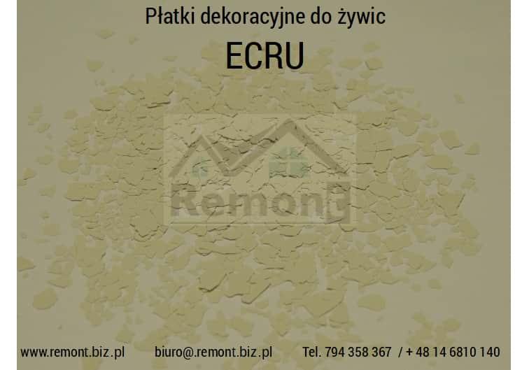 Płatki dekoracyjne do żywic ECRU