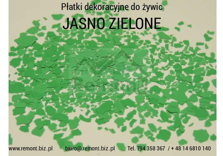 Płatki dekoracyjne do żywic JASNO ZIELONE