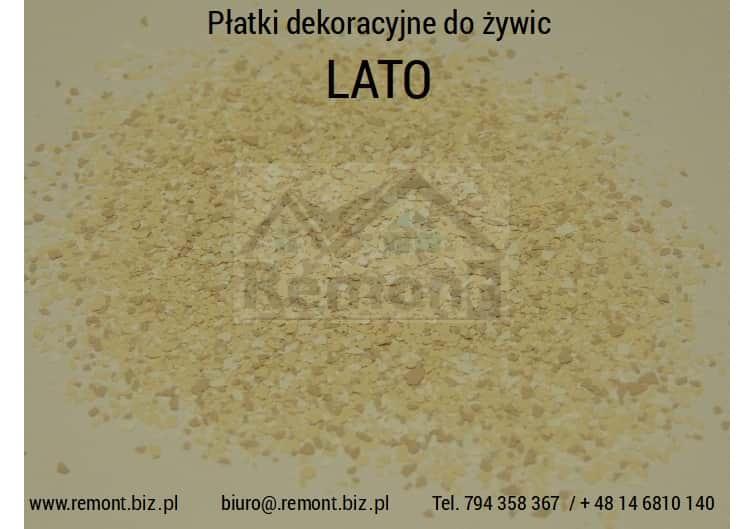 Płatki dekoracyjne do żywic LATO