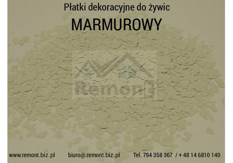 Płatki dekoracyjne do żywic MARMUROWY