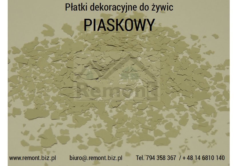 Płatki dekoracyjne do żywic PIASKOWY