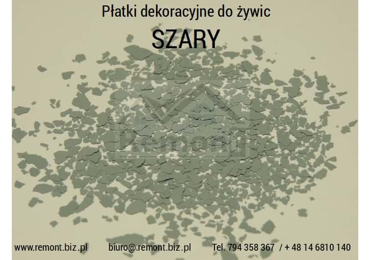Płatki dekoracyjne do żywic SZARY