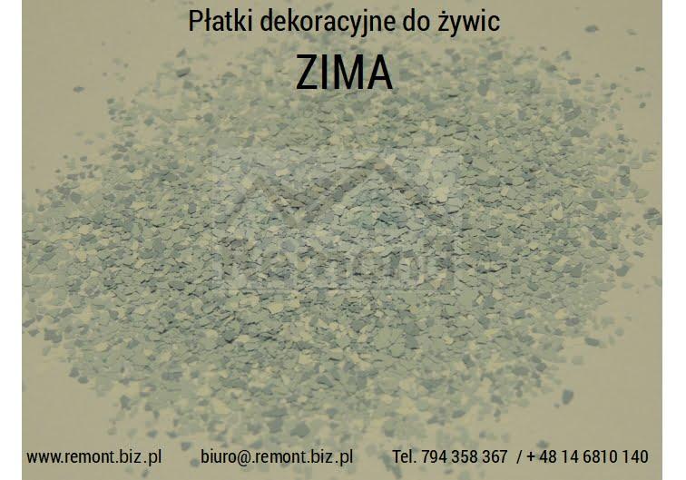 Płatki dekoracyjne do żywic ZIMA