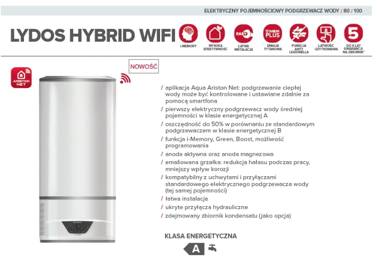 lydos hybrid ariston dane techniczne
