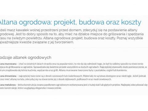 Altana ogrodowa projekt, budowa oraz koszty