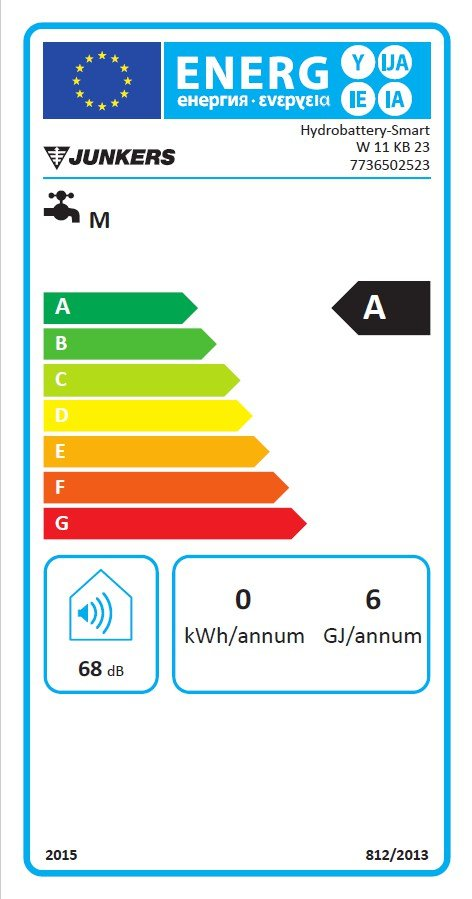 Junkers - Bosch W 11 KB - Gazowy podgrzewacz przepływowy - Etykieta energetyczna