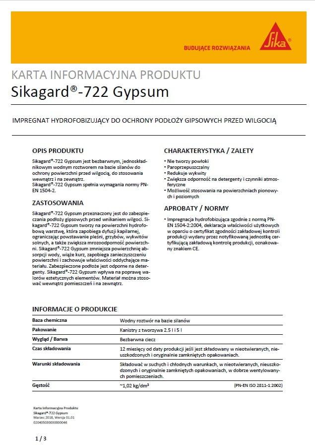 Sikagard - 722 Gypsum