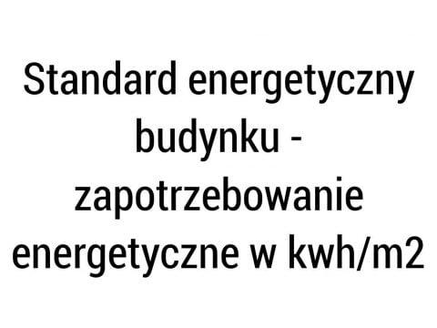 Standard energetyczny budynku