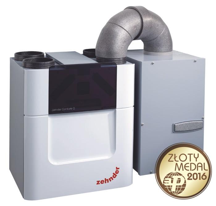 Glikolowy gruntowy wymiennik ciepła Zehnder ComfoFond-L Q plus ComfoAir Q - Złoty medal 2016