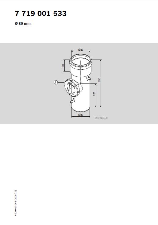 Azb 618 Przewód Powietrzny (Lub Spalinowy) Z Rewizją L 0,25 m