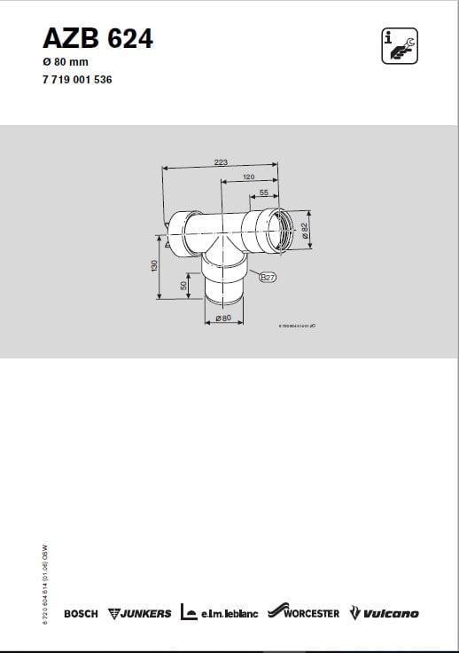 Azb 624 Trójnik (90 stopni) Z Rewizją