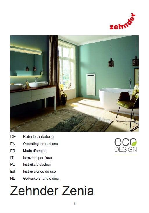 Zehnder Zenia - instrukcja obsługi