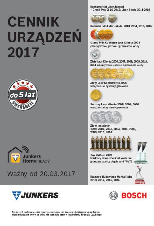 Cennik Junkers Bosch - 2017