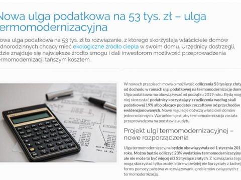 Nowa ulga podatkowa na 53 tys. zł – ulga termomodernizacyjna